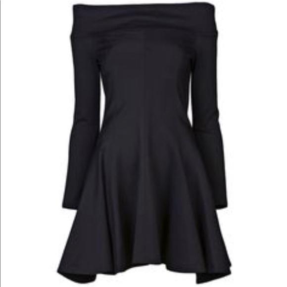 a7acc04a9d26 Halston Heritage Dresses | Off Shoulder Black Dress | Poshmark